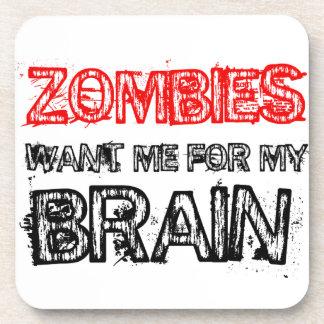 Porta-copos os zombis querem-me para meu cérebro