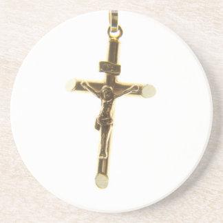 Porta-copos Ouro transversal do Jesus Cristo horizontal