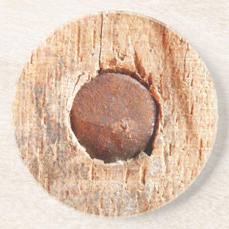 Porta copos oxidada velha da bebida do arenito do