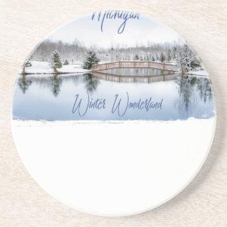 Porta-copos País das maravilhas do inverno