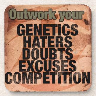 Porta Copos Palavras inspiradas do exercício - Outwork -
