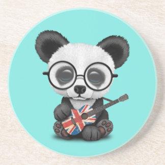 Porta-copos Panda do bebê que joga a guitarra britânica da