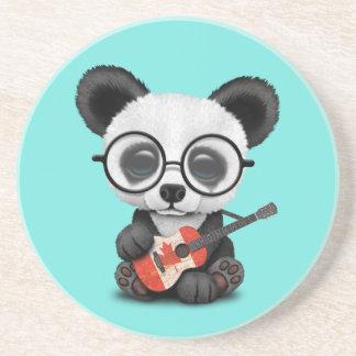 Porta-copos Panda do bebê que joga a guitarra canadense da