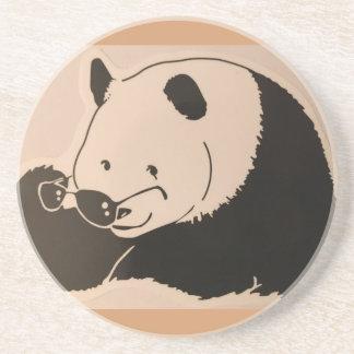 Porta-copos Panda legal com máscaras