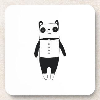 Porta-copos Panda preto e branco pequena