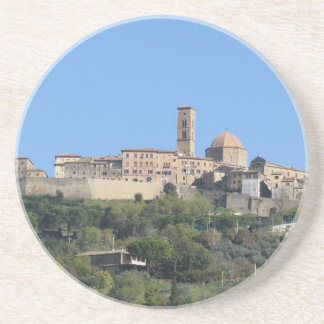 Porta-copos Panorama da vila de Volterra. Toscânia, Italia