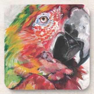 Porta-copos Papagaio vermelho