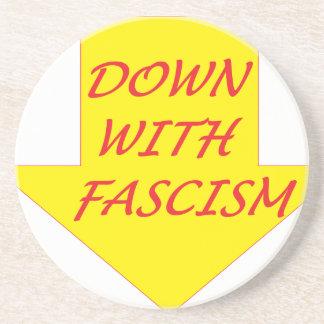 Porta-copos Para baixo com fascismo