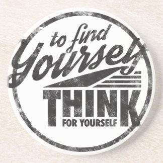 Porta-copos Para encontrar-se, pense para o senhor mesmo