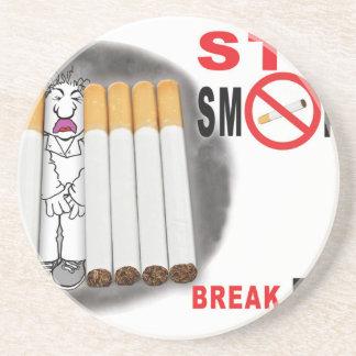 Porta-copos Pare de fumar lembretes - não mais bumbuns