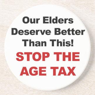 Porta-copos Pare o imposto da idade