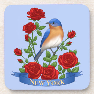 Porta Copos Pássaro e flor de Estados de Nova Iorque