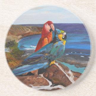 Porta-copos Pássaros tropicais que negligenciam a baía