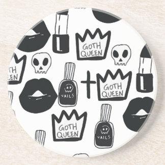 Porta-copos pastel goth, queen, horror, terror, gothic, femini
