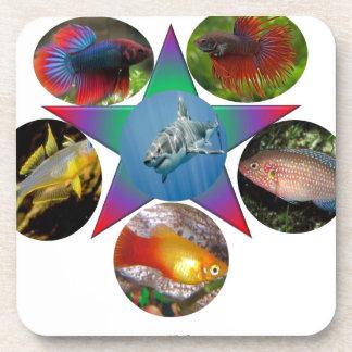 Porta Copos peixes, peixe dourado, carpa, pesca, mar, oceano,