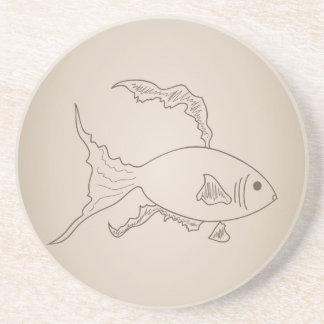 Porta-copos Peixes pequenos do ouro