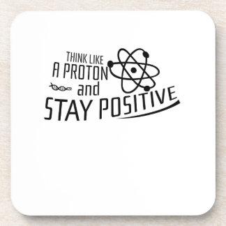 Porta Copos Pense como um presente legal da ciência de Proton
