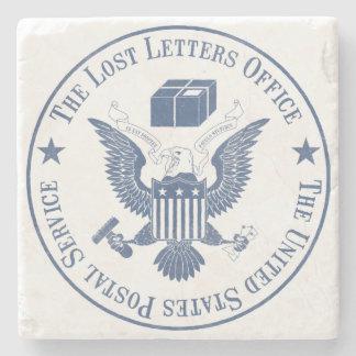 Porta copos perdida do escritório das letras porta copos de pedras
