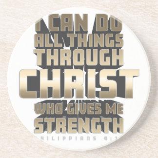 Porta-copos Phil4: 13 eu posso fazer todas as coisas com o