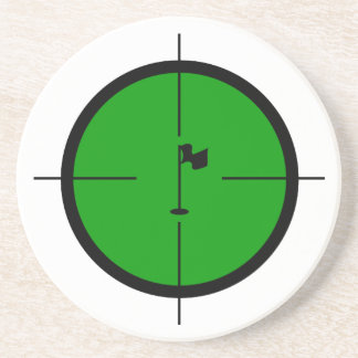 Porta-copos Pin do golfe nos Crosshairs