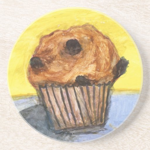 Porta copos pintada do arenito do muffin dos pedaç