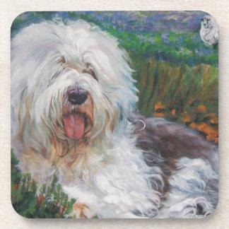 Porta-copos Pintura inglesa velha bonita da arte do cão do