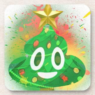 Porta Copos Pintura pistola da árvore de Natal de Emoji