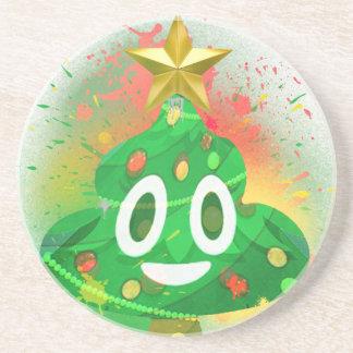 Porta-copos Pintura pistola da árvore de Natal de Emoji