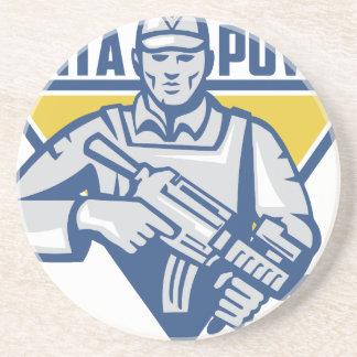 Porta-copos Poder ucraniano da junta do exército