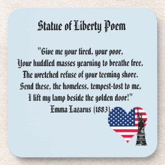 Porta Copos Poema da estátua da liberdade