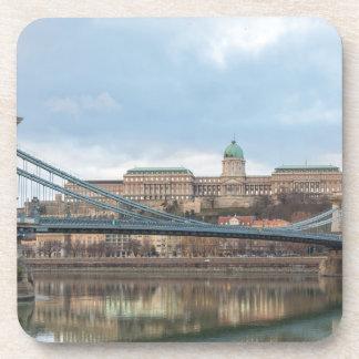 Porta Copos Ponte Chain com castelo Hungria Budapest de Buda