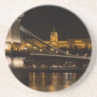 Porta-copos Ponte Chain com castelo Hungria Budapest de Buda