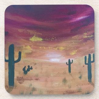 Porta-copos Por do sol do deserto