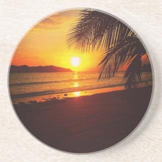 Porta-copos Por do sol do paraíso