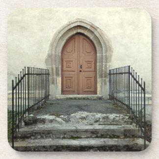 Porta-copos Porta da igreja do vintage