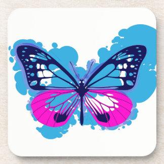 Porta Copos Portas copos azuis da borboleta do pop art