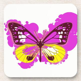 Porta-copos Portas copos cor-de-rosa da borboleta do pop art