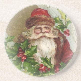 Porta-copos Portas copos do Natal de Papai Noel do vintage