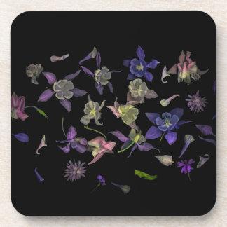 Porta-copos Portas copos mágicas da flor com parte traseira da