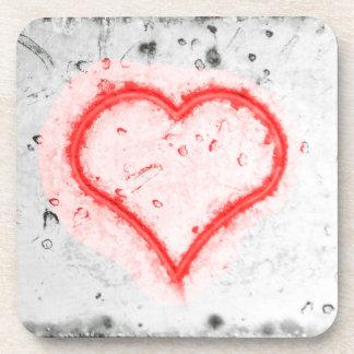 Porta Copos Portas copos plásticas duras do coração vermelho