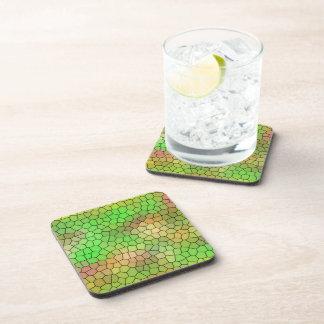 Porta Copos Portas copos verdes do design do mosaico do