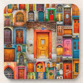 Porta Copos Portas das belas artes da laranja do mundo