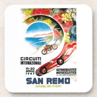 Porta Copos Poster 1947 grande da raça de San Remo Prix