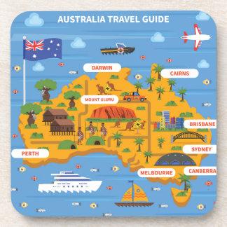 Porta-copos Poster do guia do viagem de Austrália