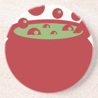Porta-copos Pote vermelho e verde do cozinhar