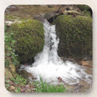 Porta Copos Pouca cachoeira por rochas mossy na floresta
