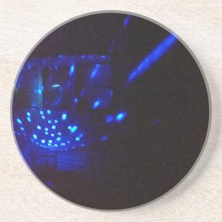 Porta-copos preto azul do fogo com faíscas