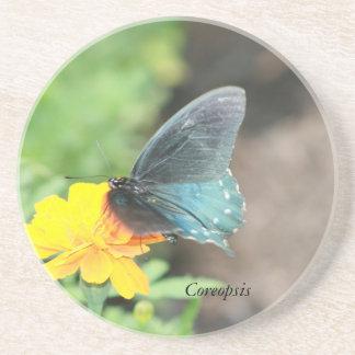 Porta-copos Produtos azuis do verão do Coreopsis do amarelo da