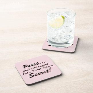 Porta-copos Pssst… eu não posso manter um SECRETO (o preto)