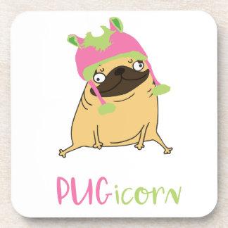 Porta Copos Pug engraçado do unicórnio de Pugicorn